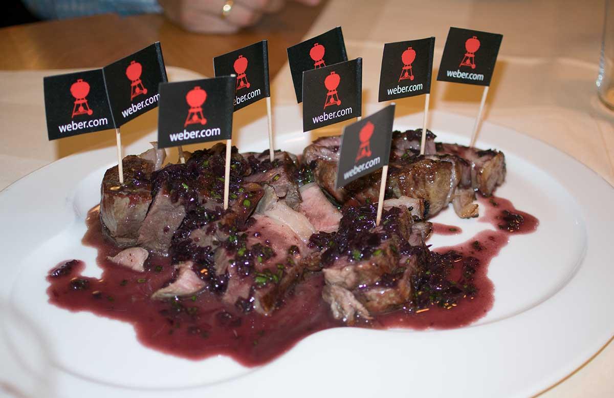 American BBQ schwein mit cranberryso  e