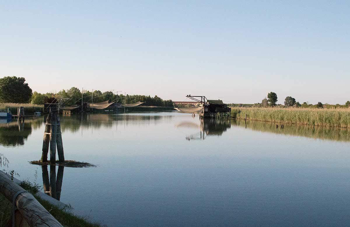 Ausflug nach Venedig und Cavallino radtour lagune blick auf die lagune
