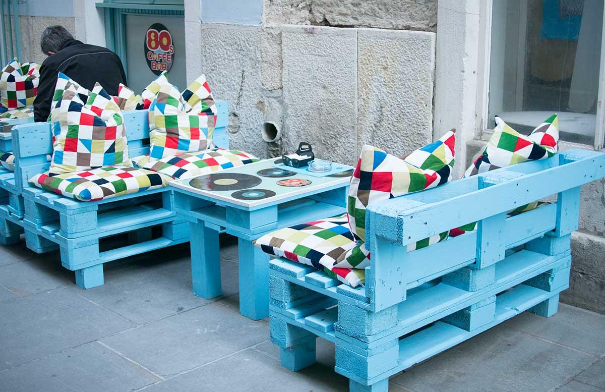 Ausflug zum Meer Portoro   und die Altstadt in Piran cafe haus