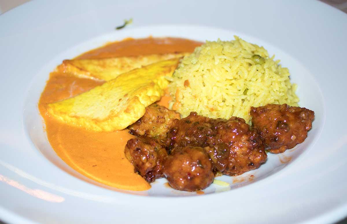 Ayurveda Detox im Hotel Thermana Park Lasko indischer käse mit frittierten gemüsebällchen