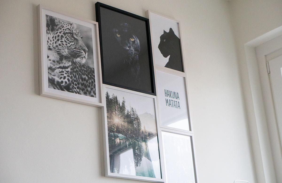 Bilderwand-für-die-Dachschräge-im-Kinderzimmer-tiere