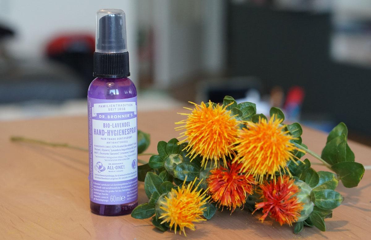 Biovera Friends Club Naturkosmetik Neuheiten dr bronners bio lavendel hygiene spray