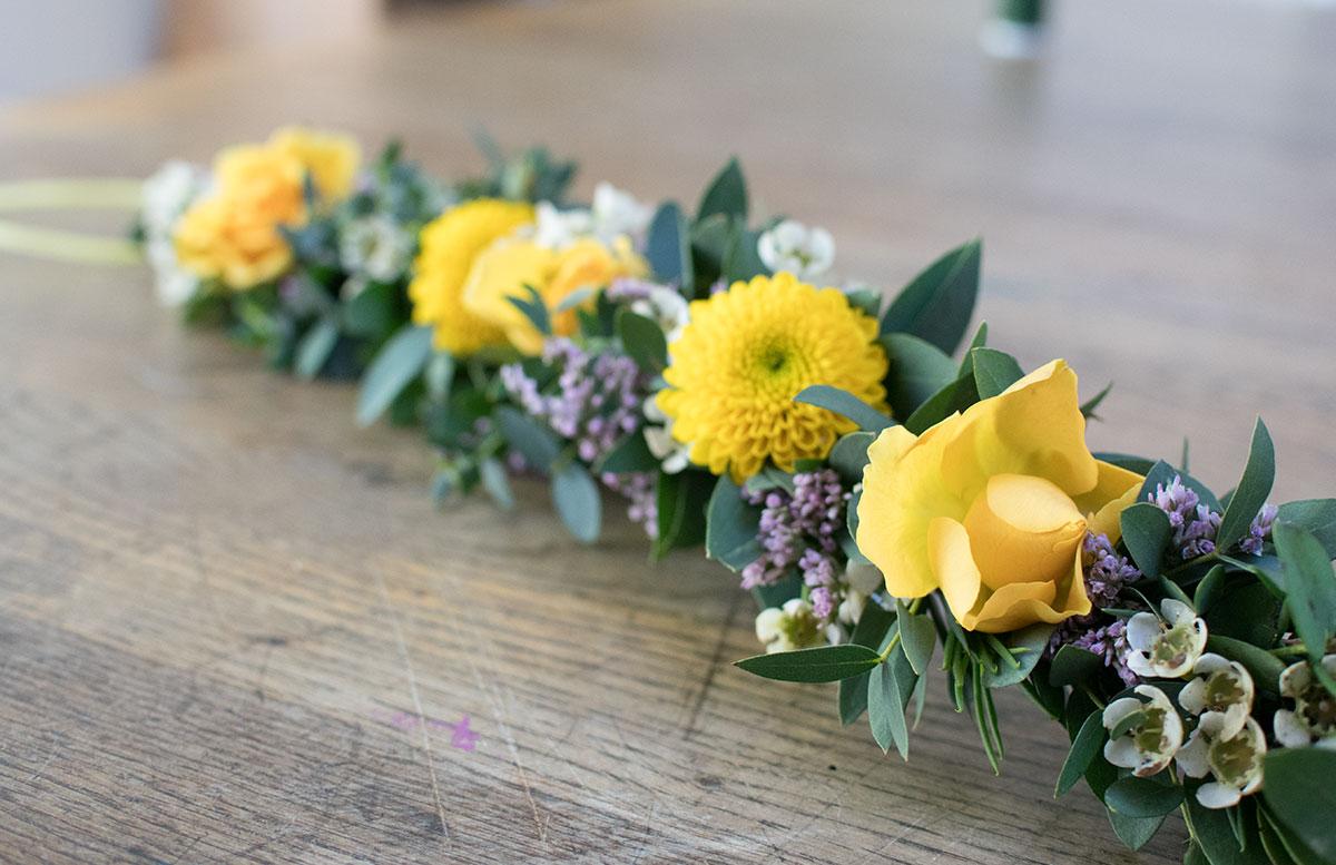 CraftTour Workshop Blumenkränze und Tisch Dekoration blumen kranz