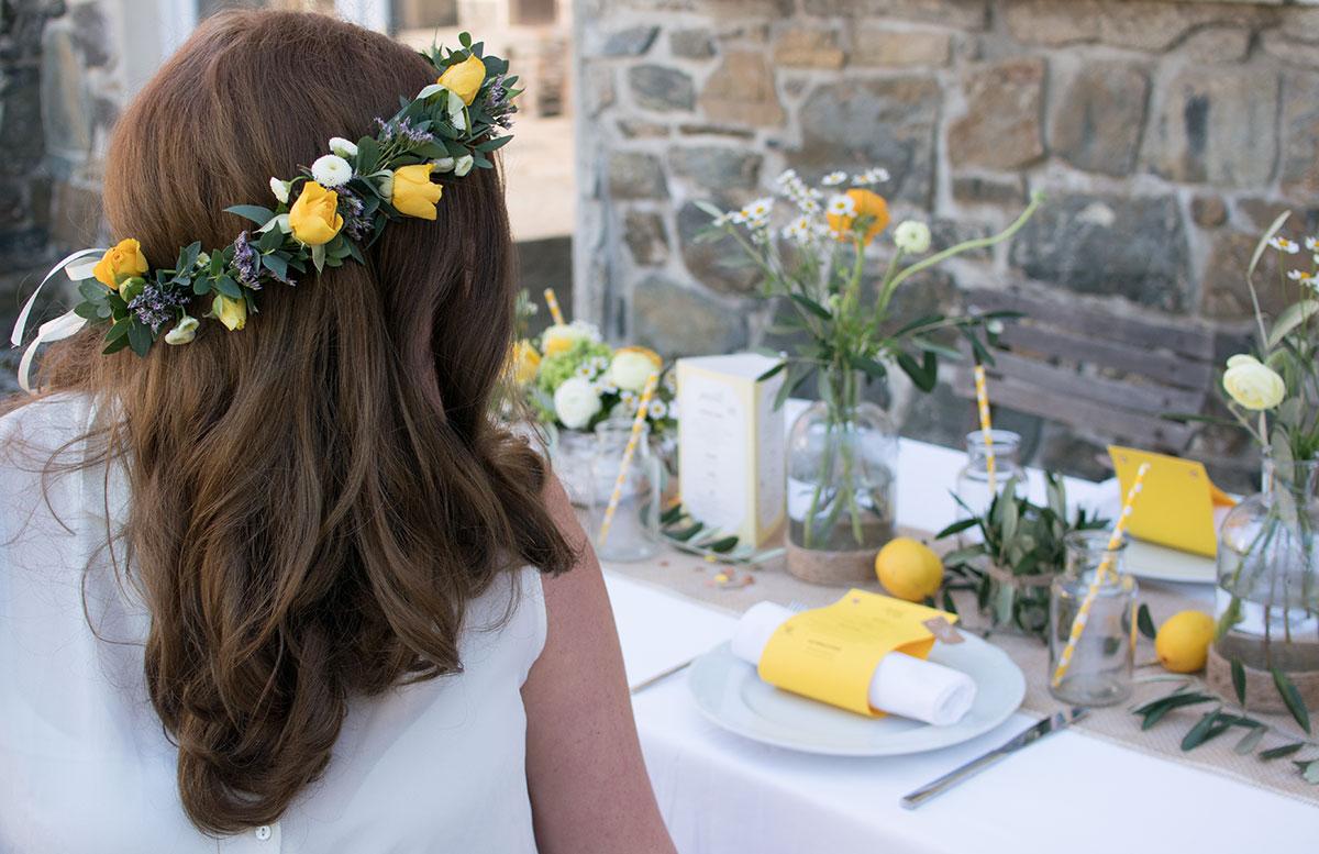 CraftTour Workshop Blumenkränze und Tisch Dekoration blumen kranz mädchen