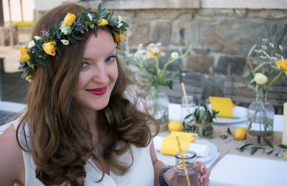 CraftTour Workshop Blumenkränze und Tisch Dekoration blumen kranz mädchen vicky