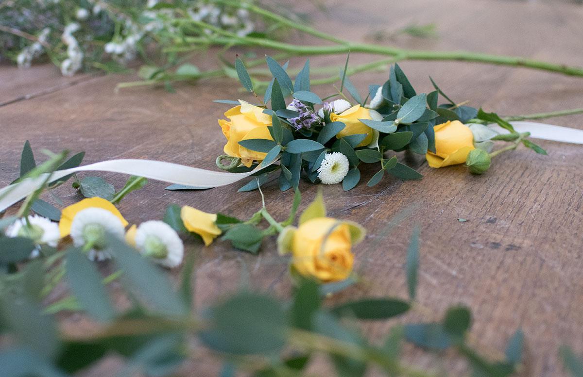CraftTour Workshop Blumenkränze und Tisch Dekoration blumen