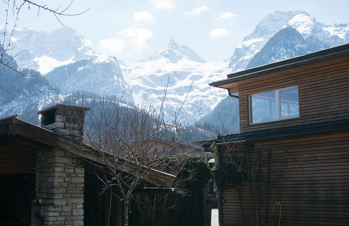Das Familienhotel Mühlpointhof in Lofer aussicht hotel