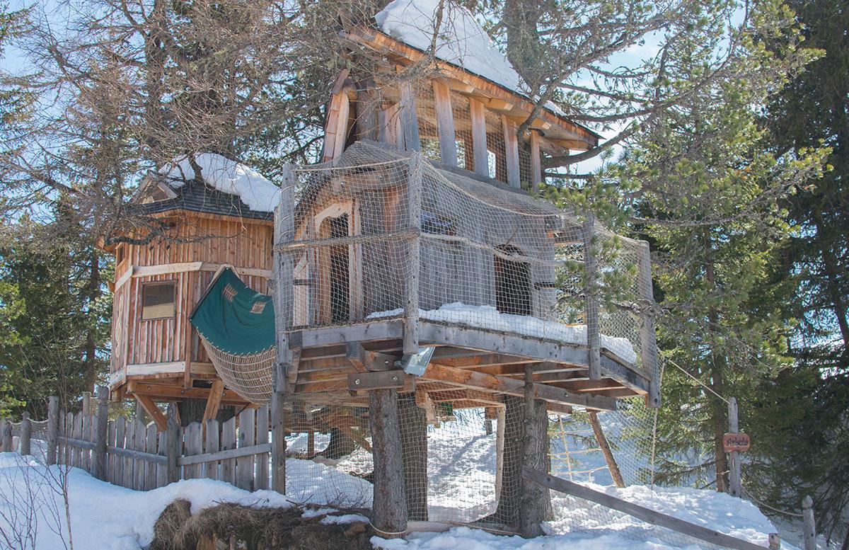 Das Hotel Hochschober auf der Turracher Höhe in Kärnten spielraum baumhaus