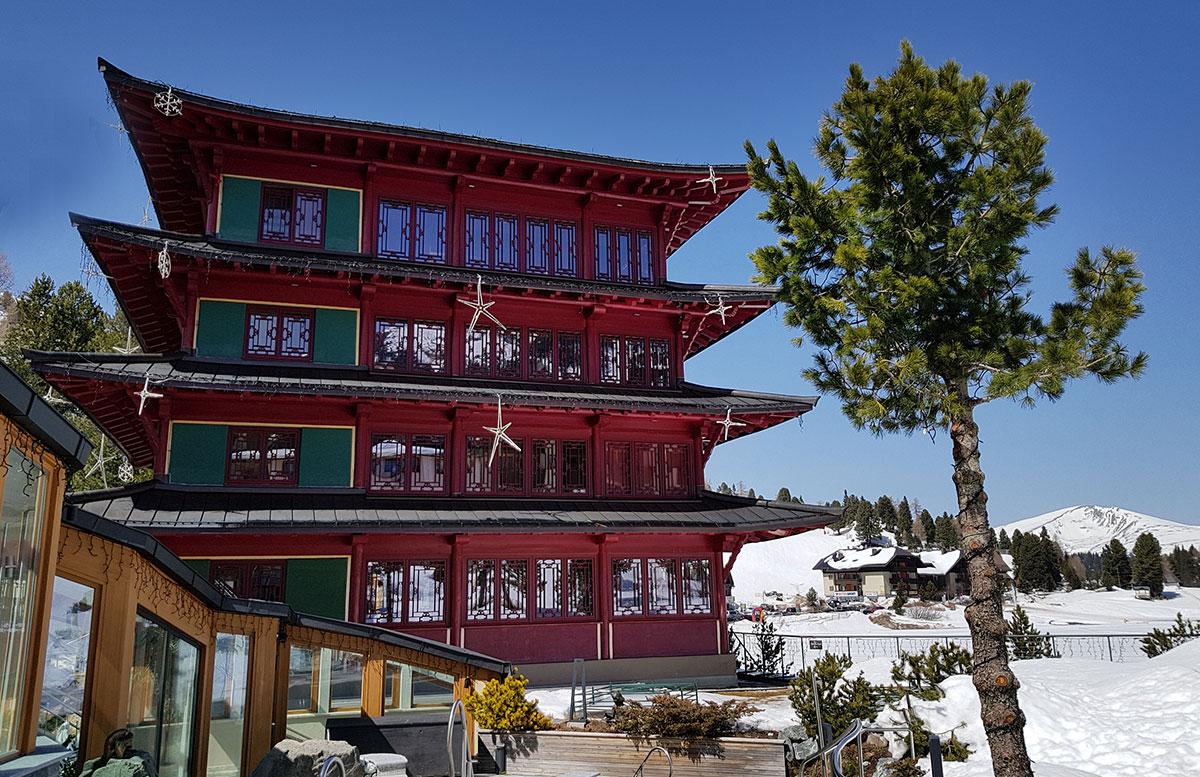 Das Hotel Hochschober auf der Turracher Höhe in Kärnten chinaturm