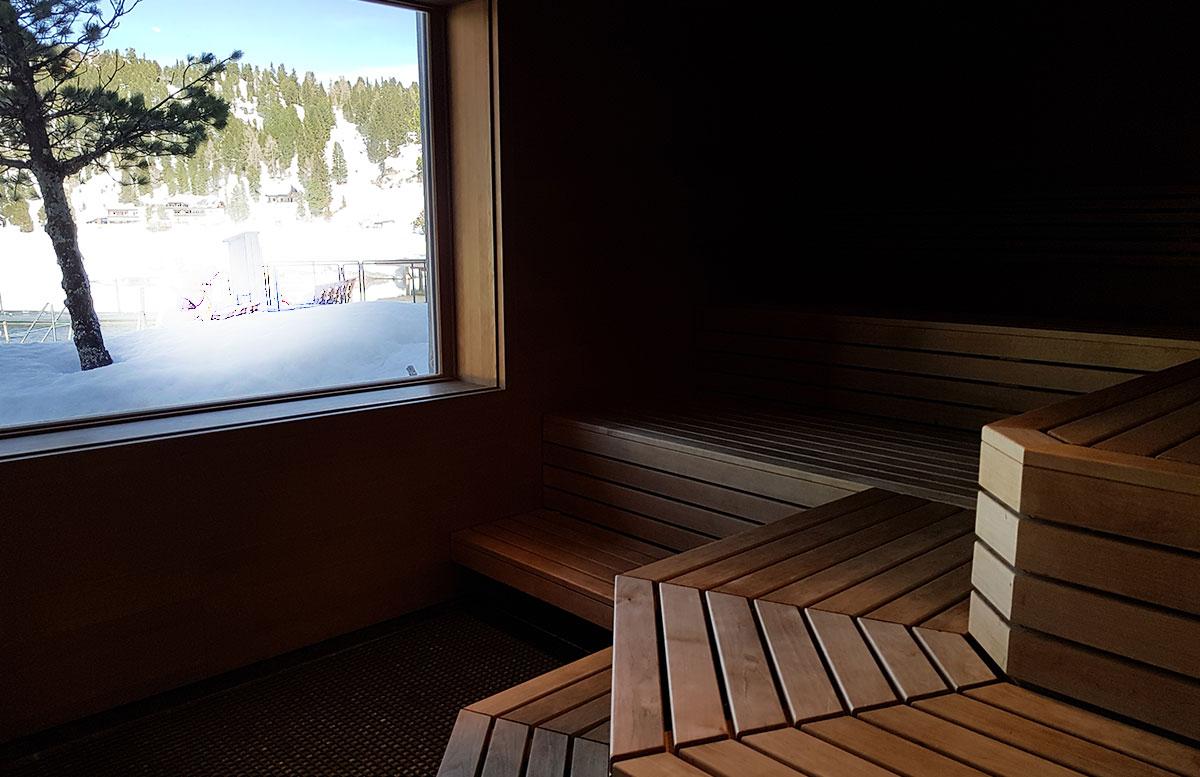 Das Hotel Hochschober auf der Turracher Höhe in Kärnten sauna