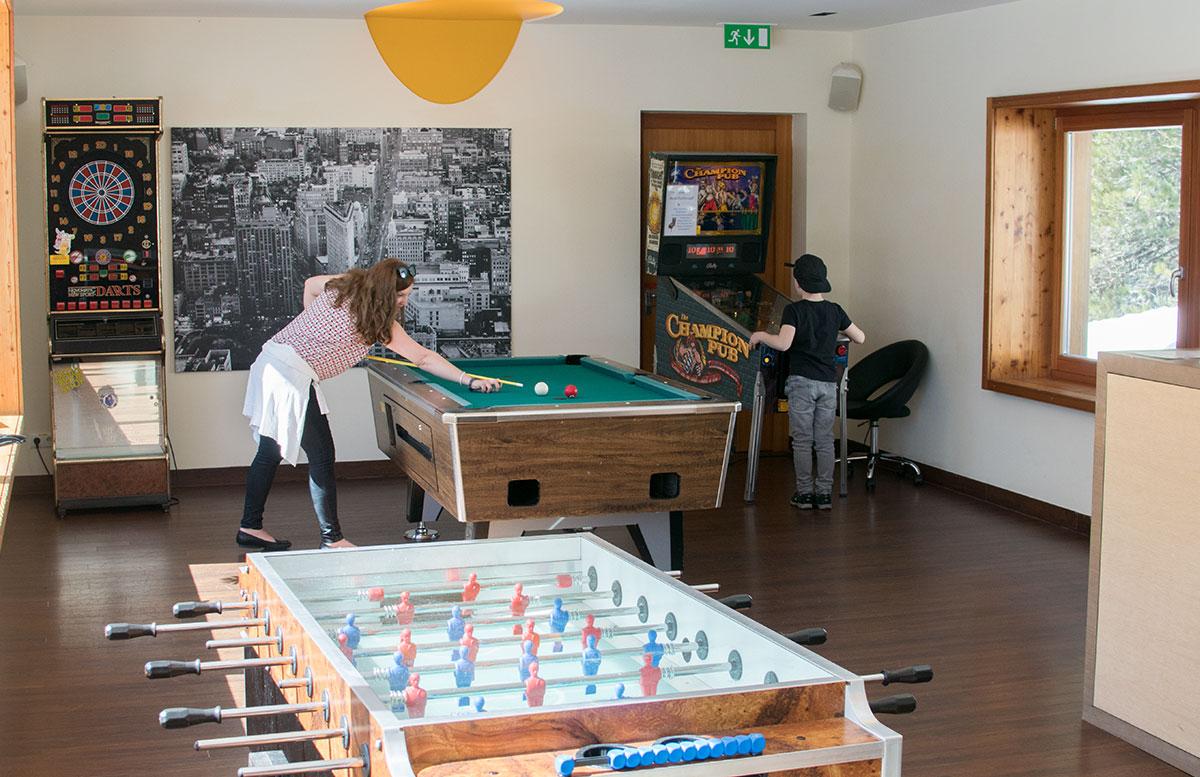 Das Hotel Hochschober auf der Turracher Höhe in Kärnten spielraum billard