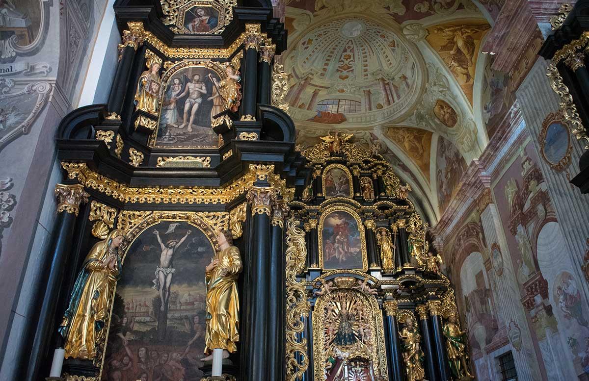 Das Kloster in Olimje und die Hirschfarm Jelenov Greben kirche