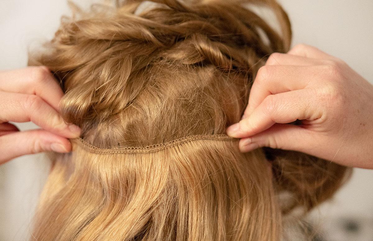 Der Traum von langen Haaren mit Clip-in Extensions haarteile länge einsetzen
