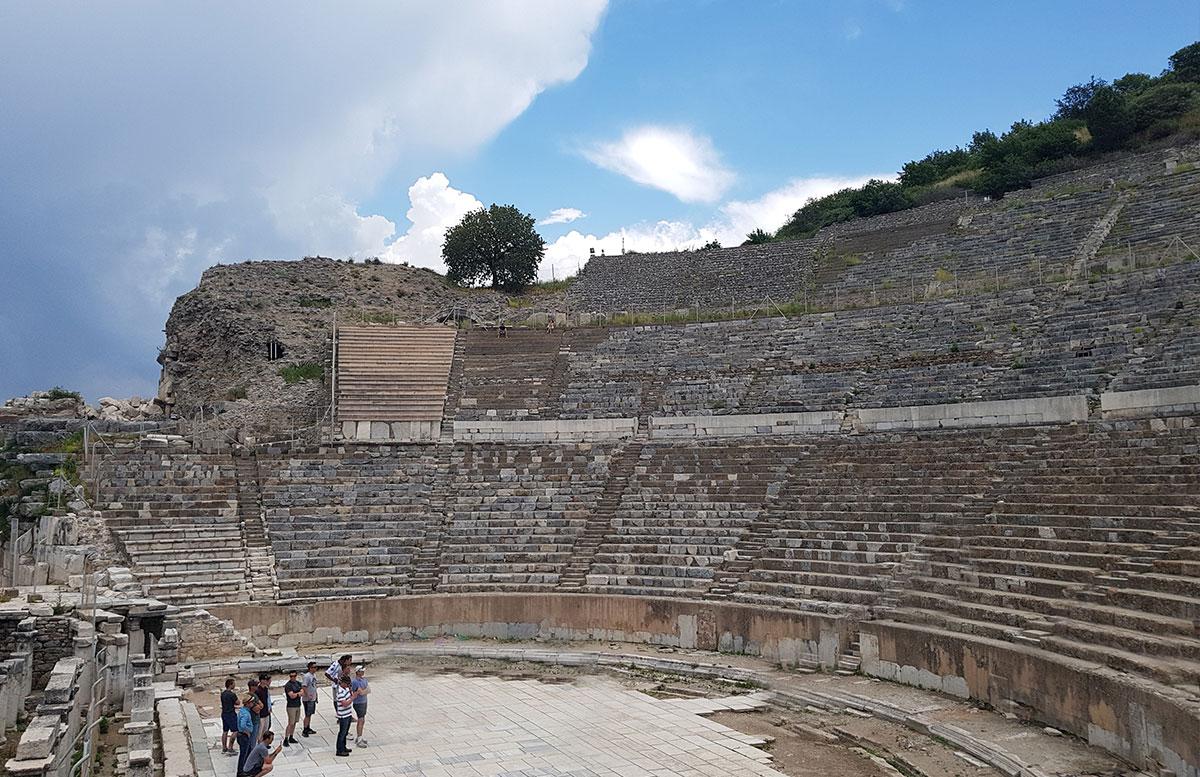 Die Ruinen von Ephesos antike theater