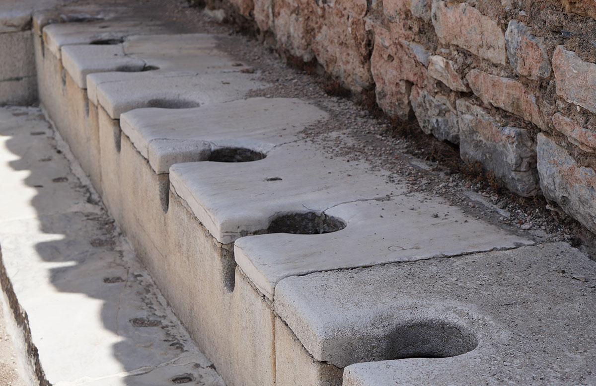 Die Ruinen von Ephesos vicky ausgrabungsstätte toiletten