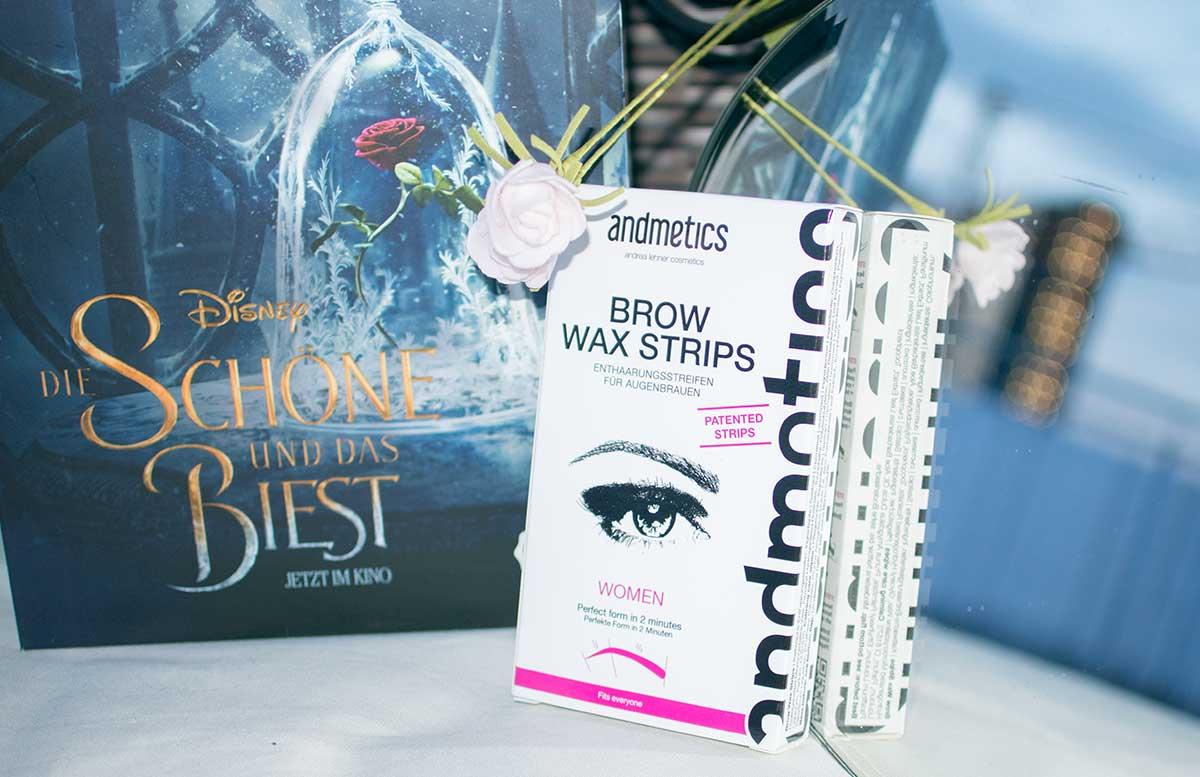 Die Sch  ne und das Biest Glossybox M  rz brow wax strips