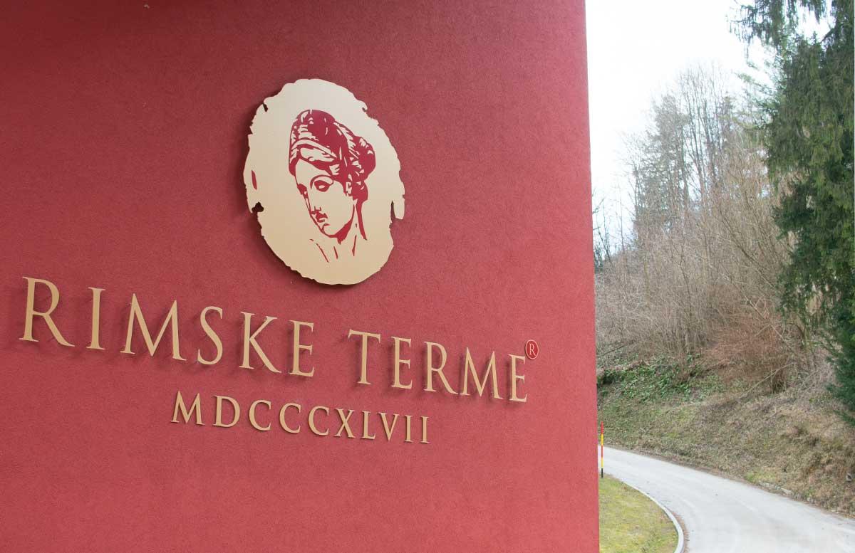 Die r  mische Therme Rimske Terme in Rimske Toplice schild von hotel