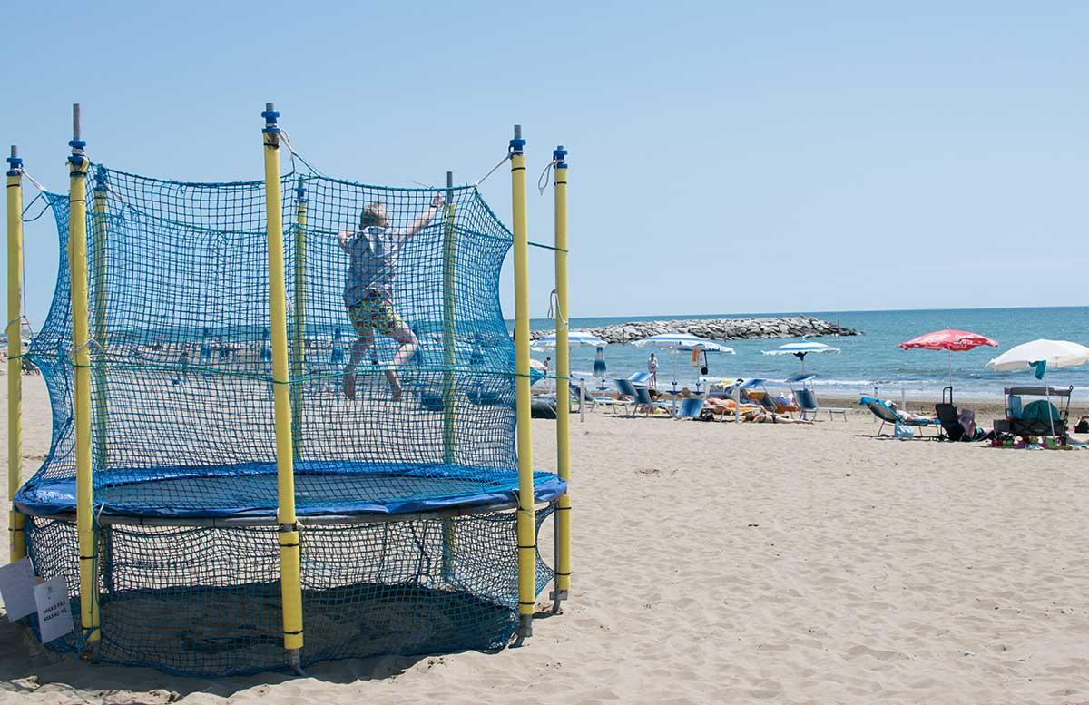 Europa Camping Village Cavallino Venezia strand spielplatz trampolin