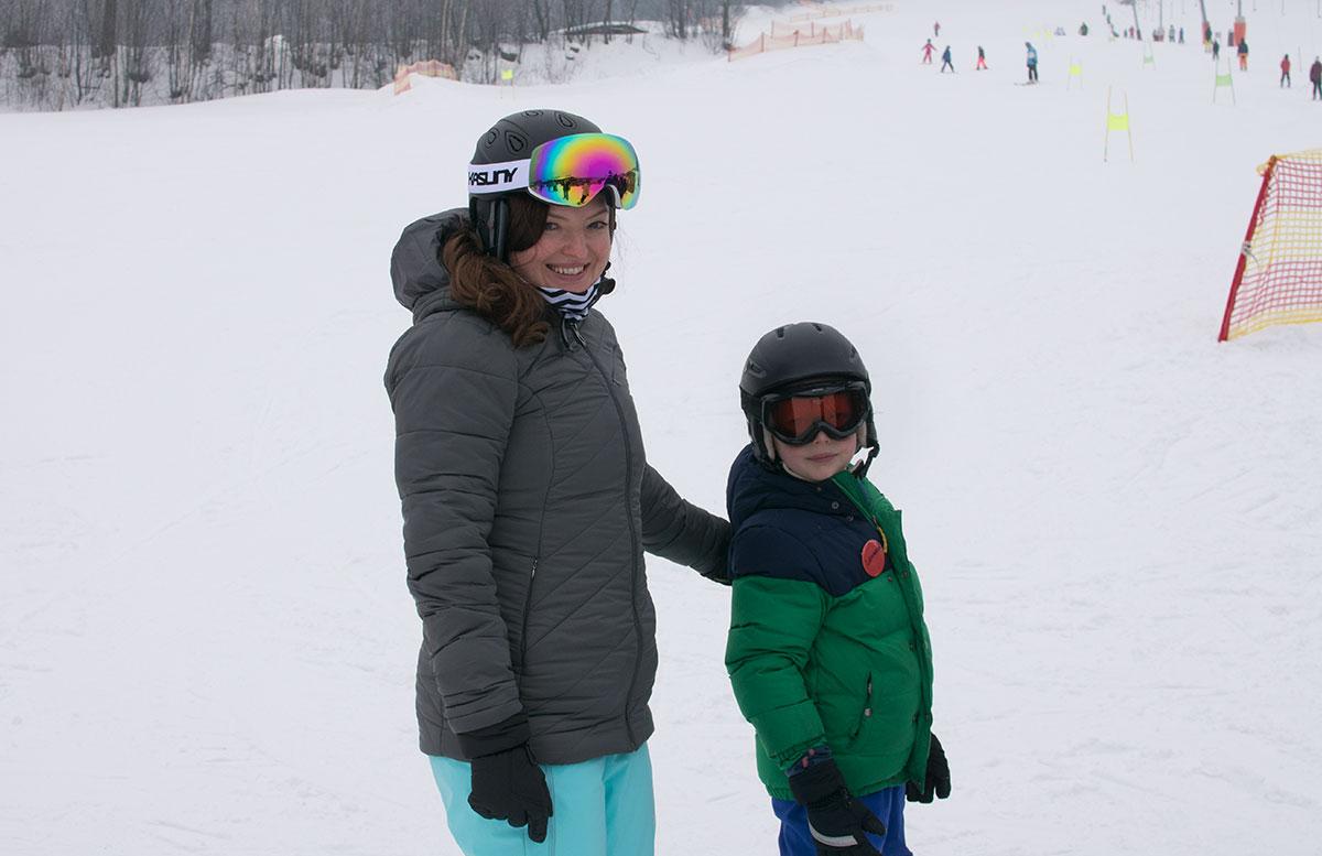 Familienausflug - Skifahren in St. Corona am Wechsel vicky und lenny