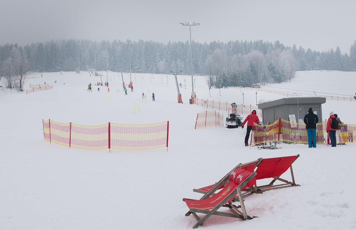 Familienausflug - Skifahren in St. Corona am Wechsel tellerlift