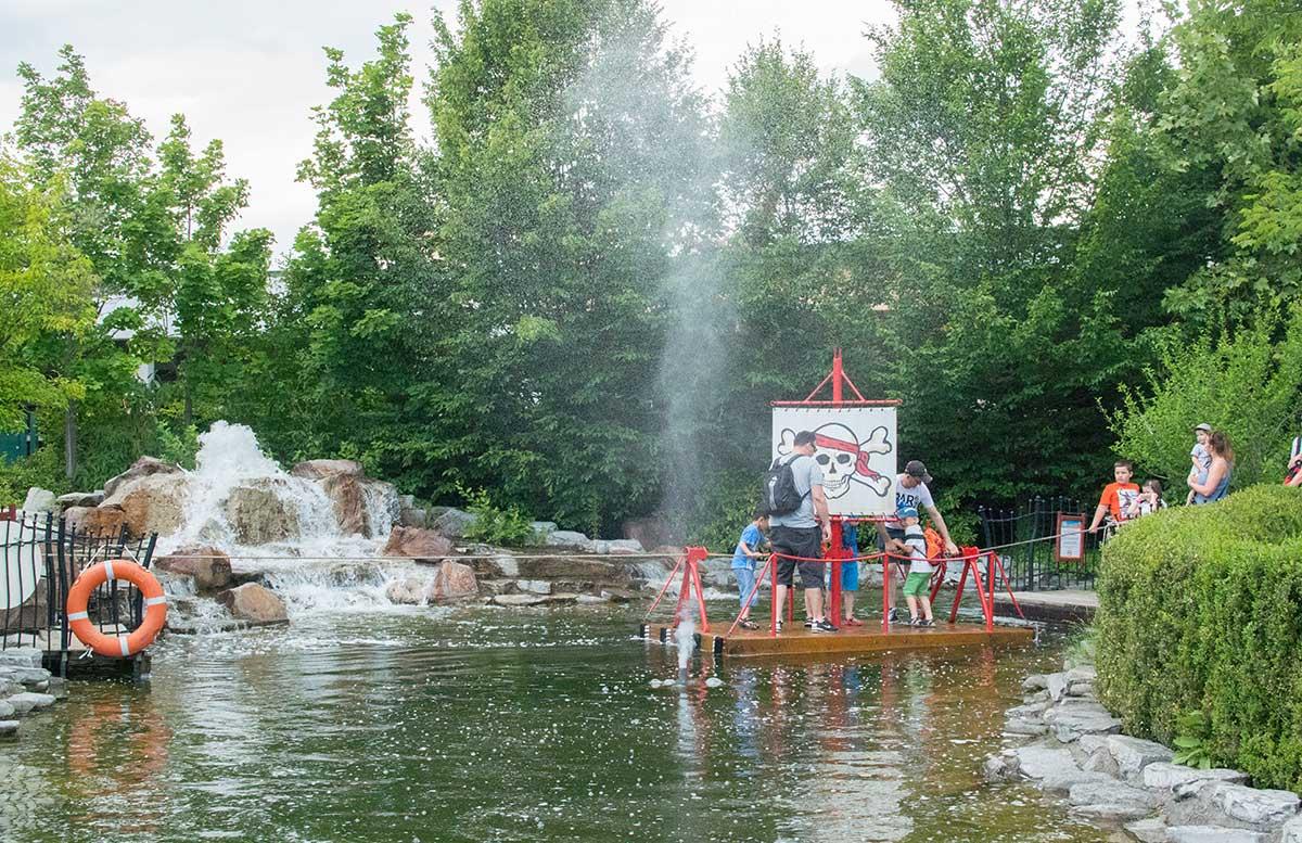 Neuheiten im Familypark in St. Margarethen piratenschiff über teich
