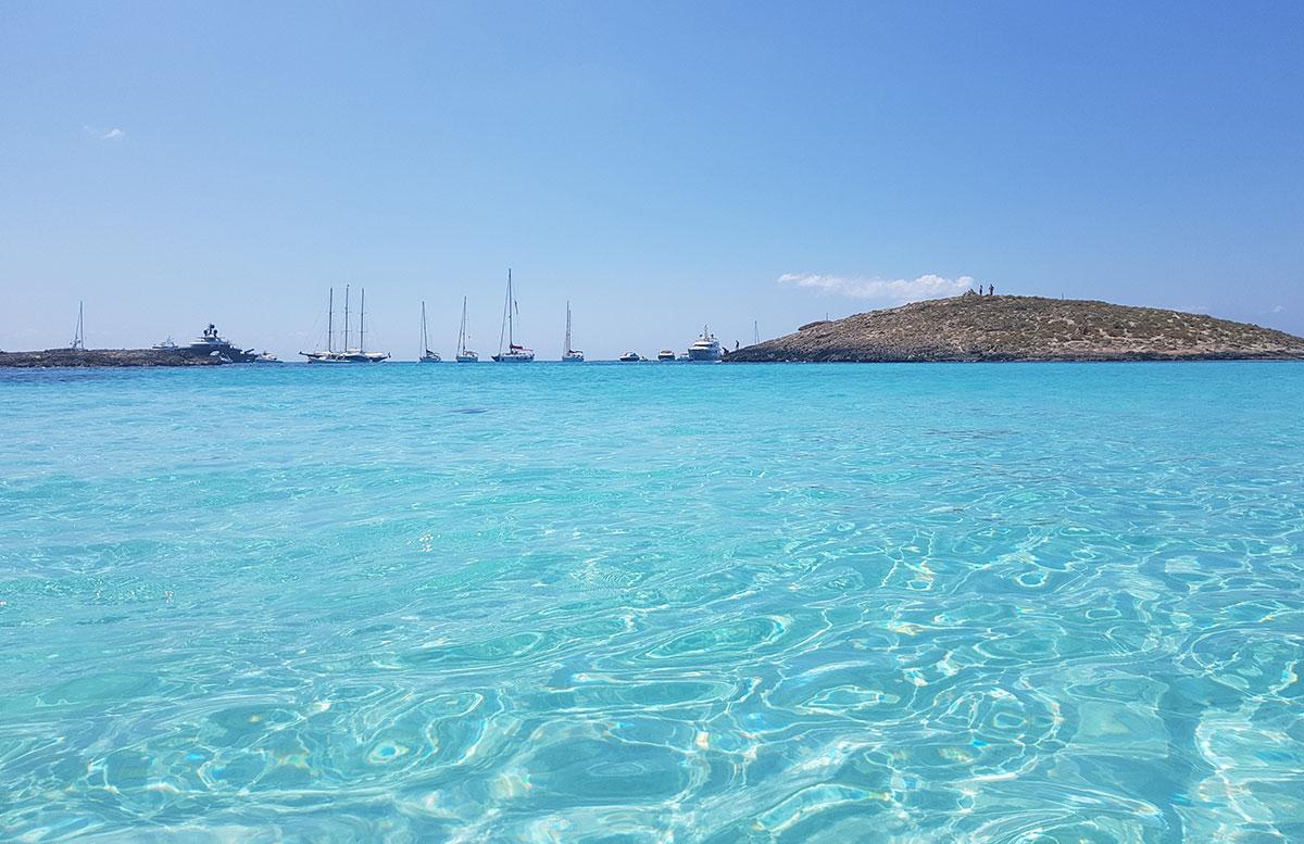 Formentera-Traumstrand-playa-illetes-türkises-wasser