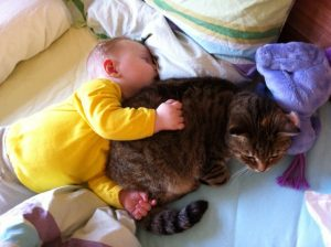 Foto Leni m. Katze 2.2011