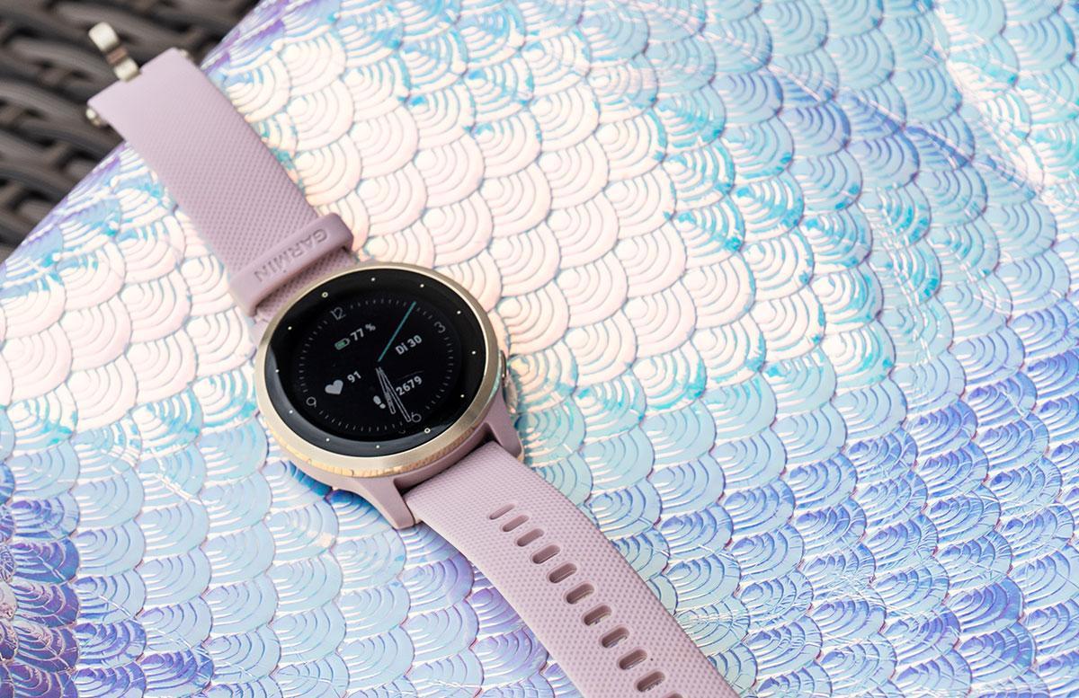 Garmin-vivoactive-4S-Fitness-Smartwatch-anzeige-schritte