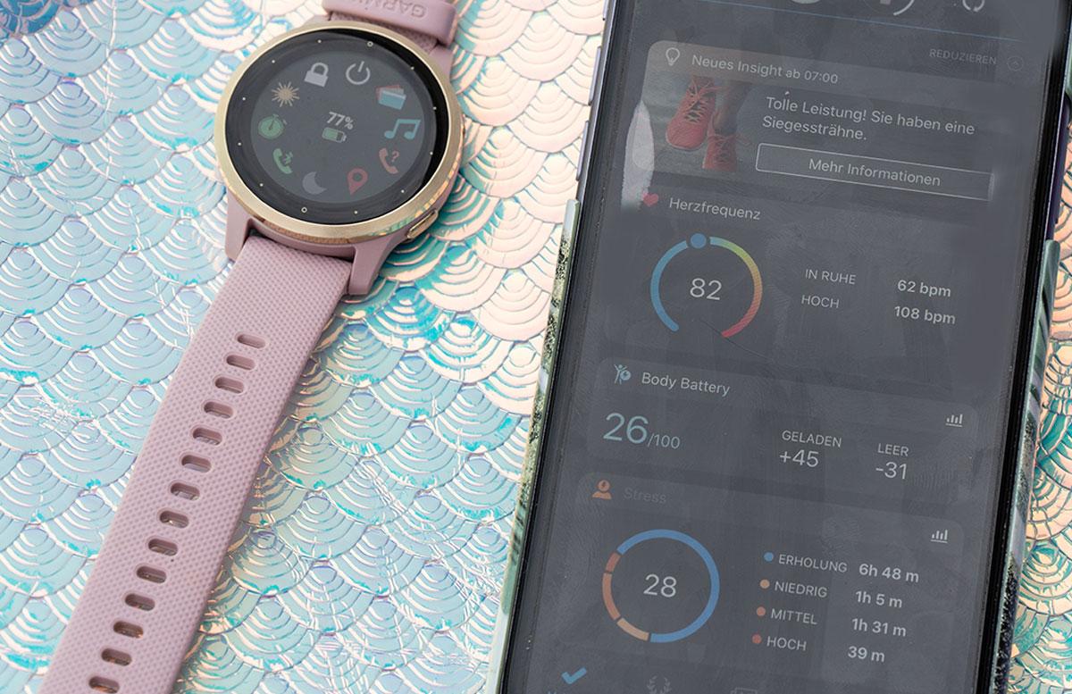 Garmin-vivoactive-4S-Fitness-Smartwatch-handy-vergleich