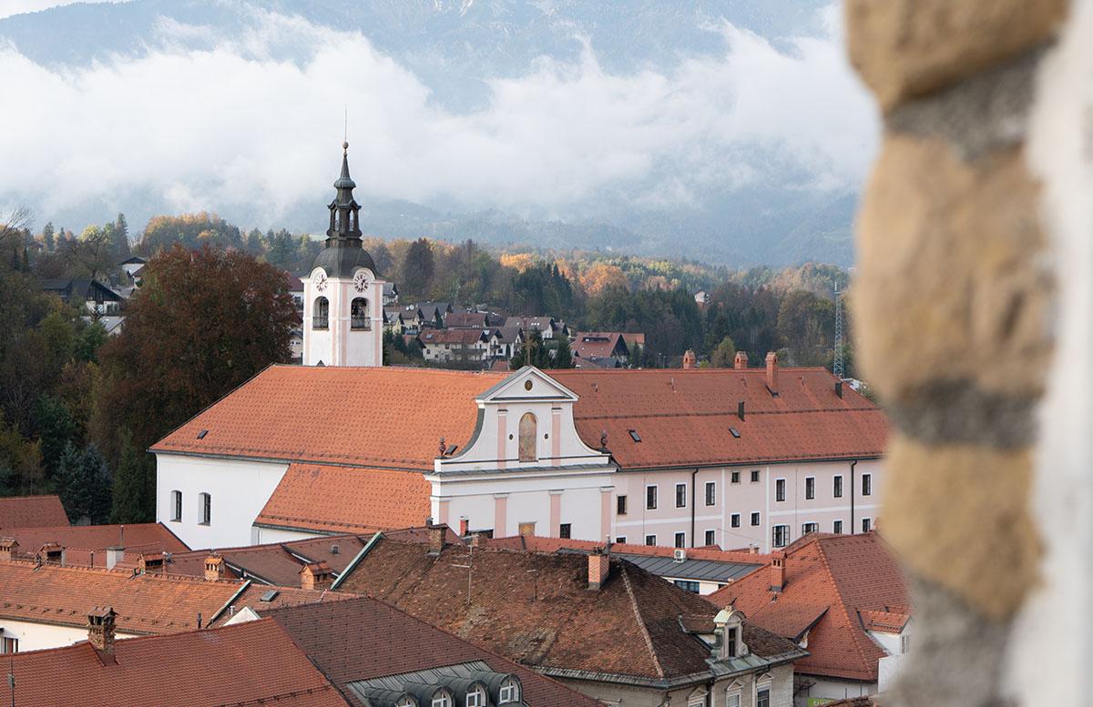 Glamping im Slovenia Eco Resort Kamnik aussicht von oben