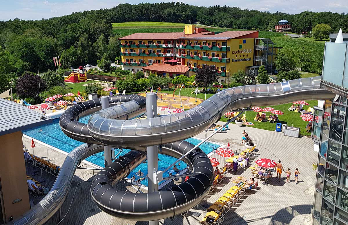 Hotel Allegria Resort Stegersbach by Reiters poolbereich black hole rutsche