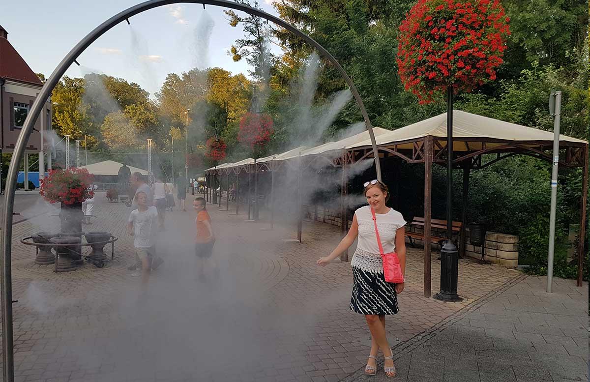 Hotel Europa fit in Heviz ausflug heviz wassersprüher