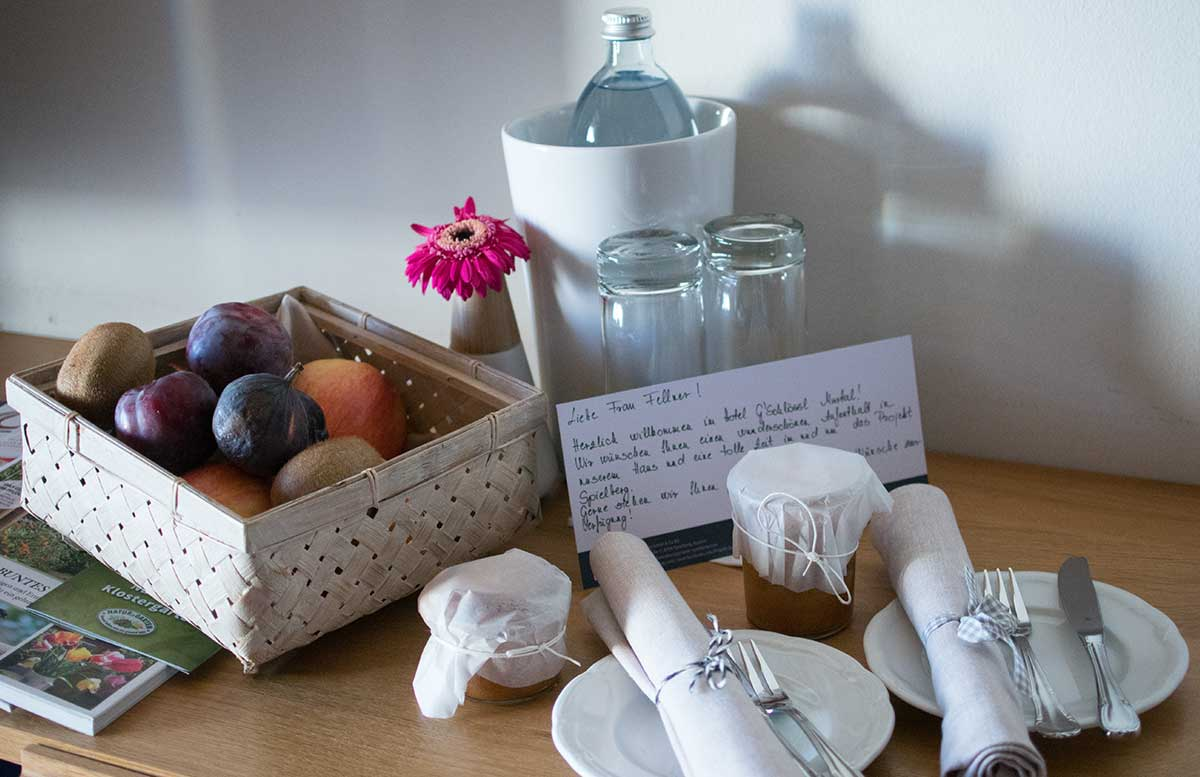 Hotel-Gschlössl-Murtal-in-Großlobming-Begrüßungsgeschenk