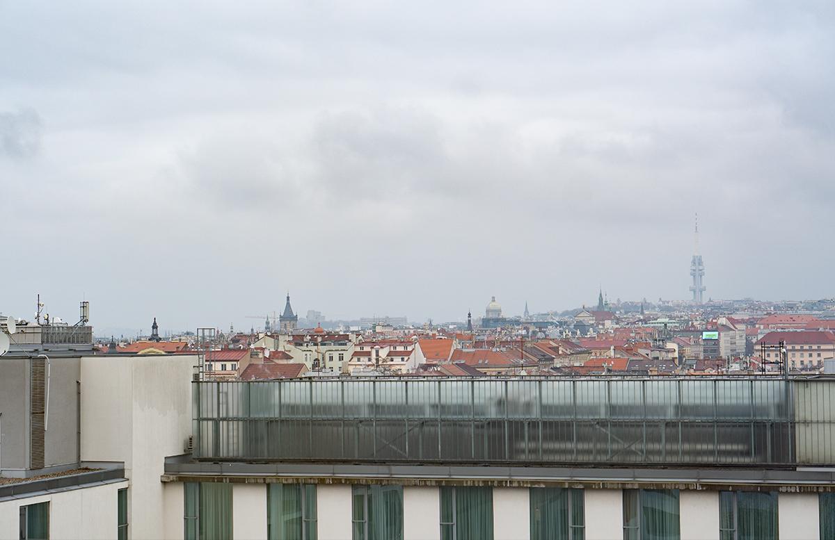 Hotel angelo by Vienna House Prague aussicht aus dem zimmer