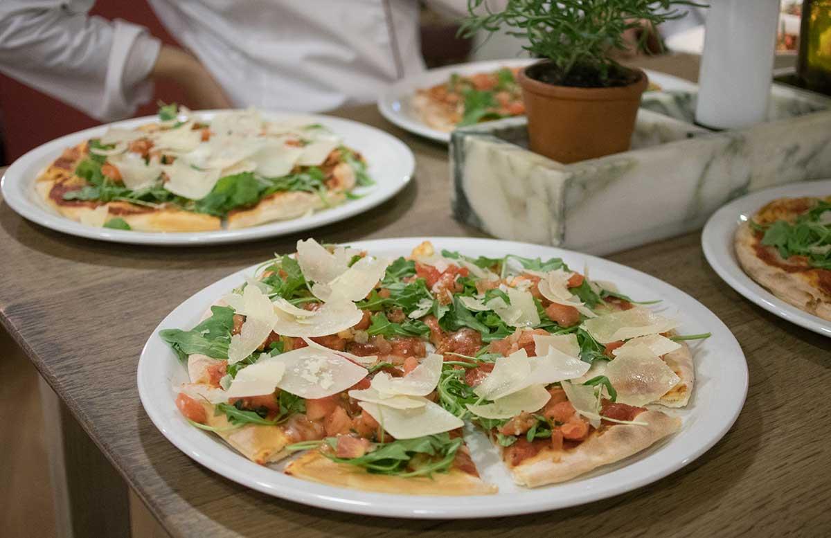 Kochworkshop bei Vapiano glutenfreie Pasta und Pizza pizza bruschetta