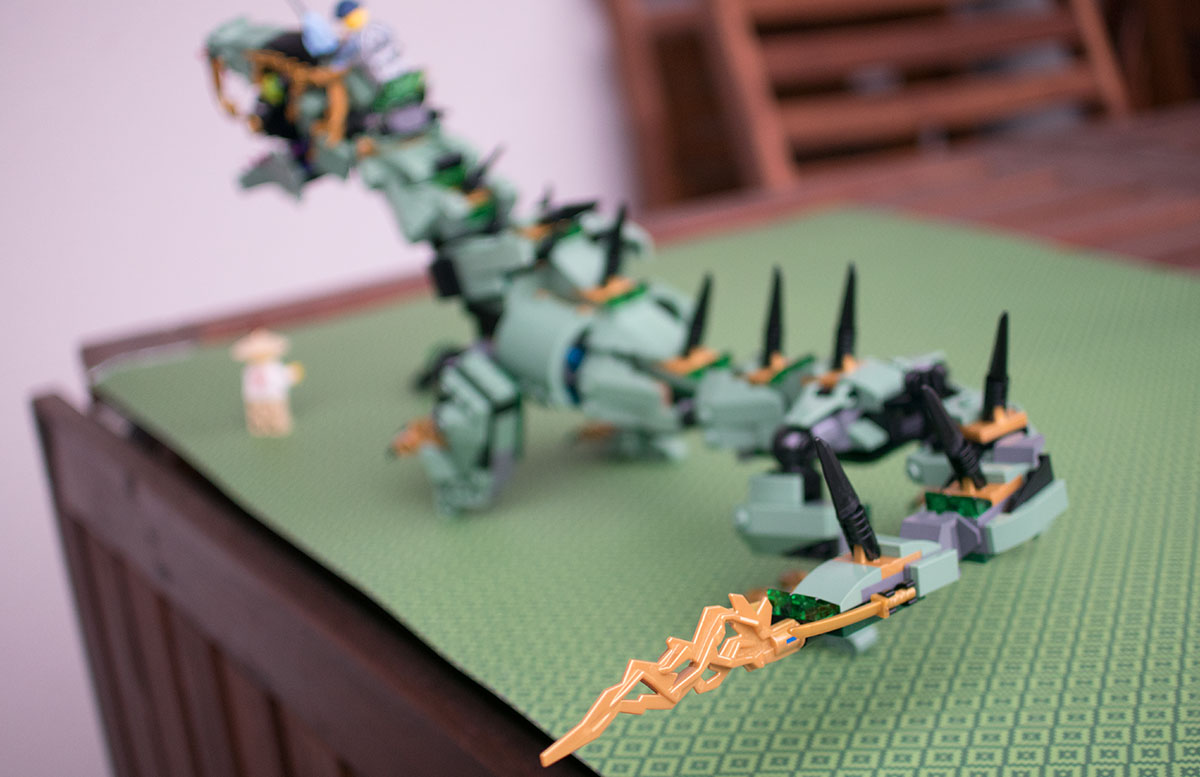 LEGO Ninjago Mech-Drache des Grünen Ninja 70612 dornen schwanz