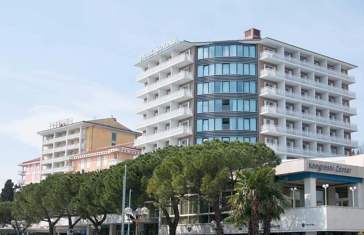 LIFECLASS Portoroz - das Hotel Slovenia von aussen