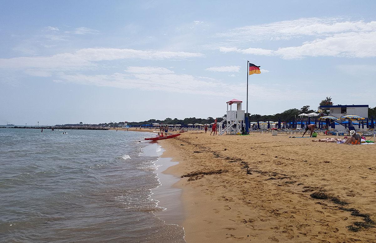 Lignano Hotel strand meer