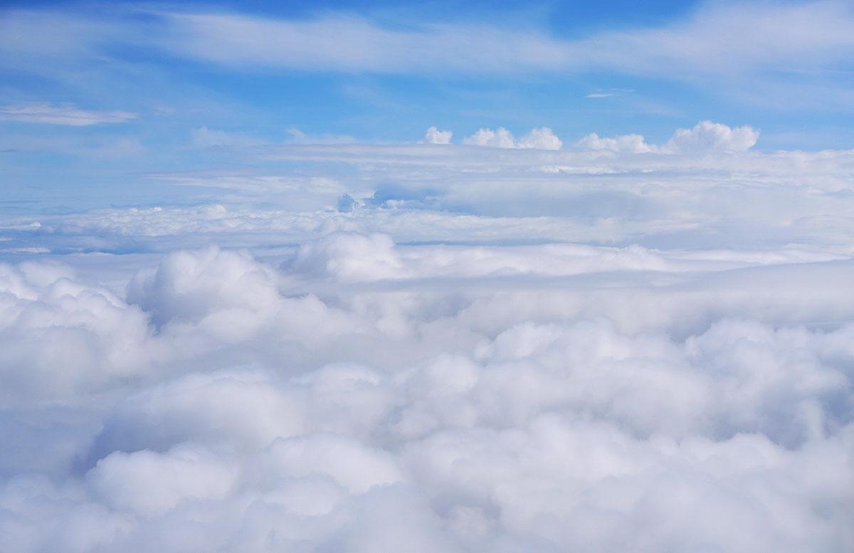 Mein Business Class Flug mit Turkish Airlines flieger aussicht wolken