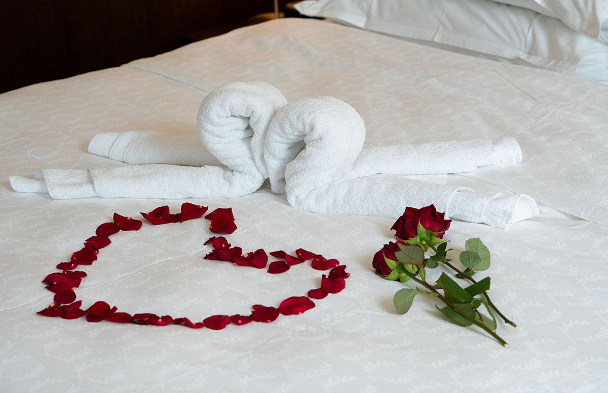 Mein-Geburtstag-im-Sheraton-Grand-Hotel-Salzburg-rosen-am-bett