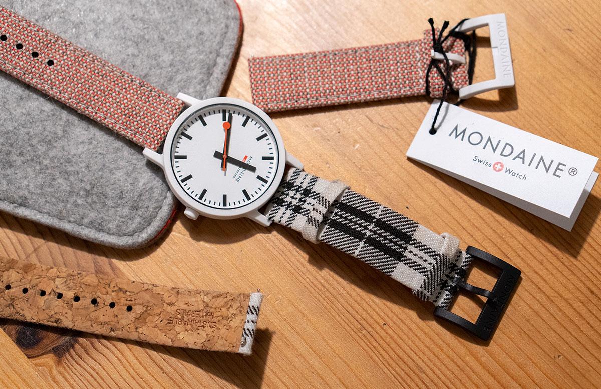 Mondaine-essence-Winter-Uhrenkollektion-2019--verschiedene-armbänder-wechselbar