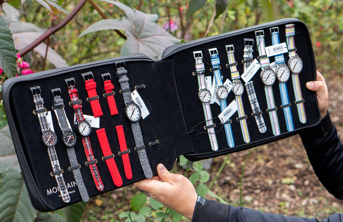 Mondaine-essence-Winter-Uhrenkollektion-2019--verschiedene-armbänder