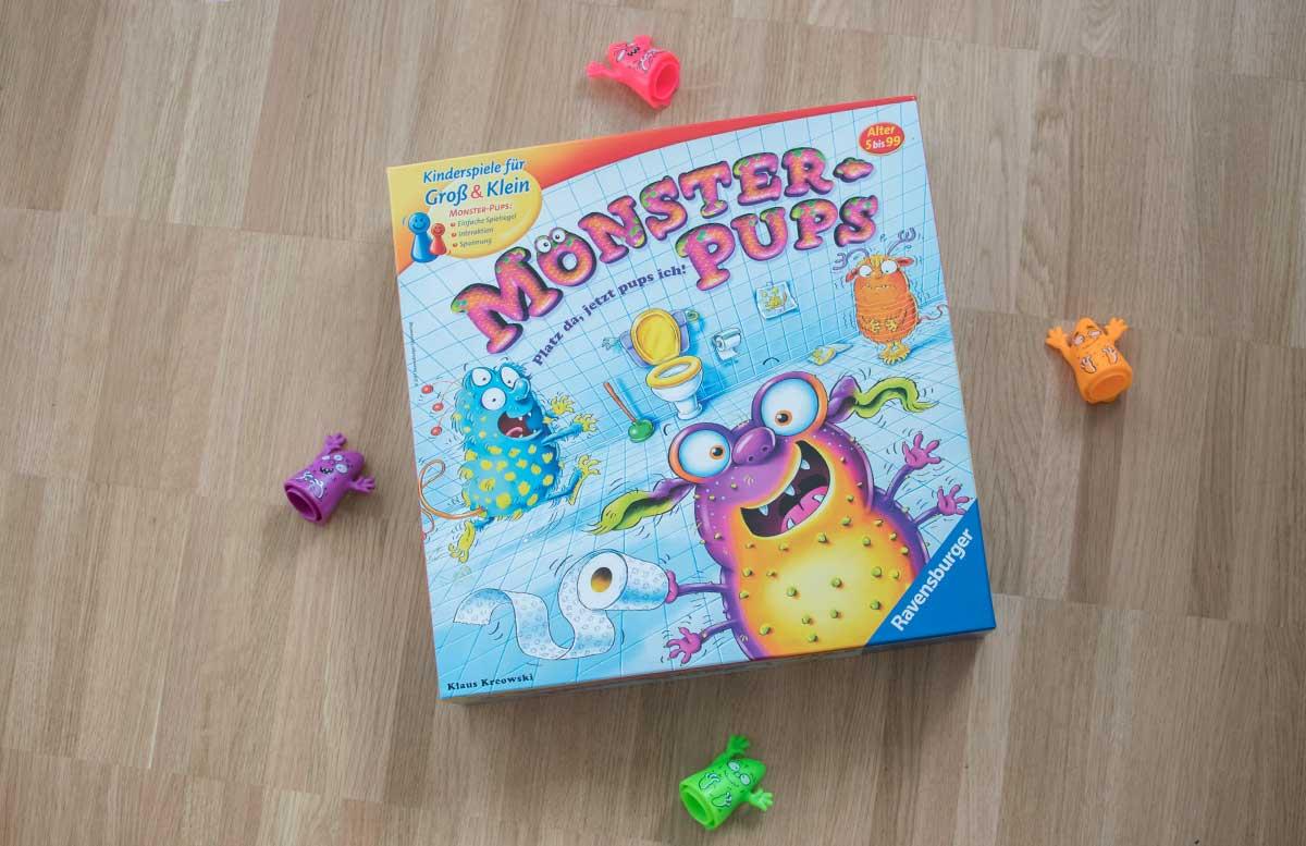 Monster-Pups Spiel von Ravensburger Schachtel