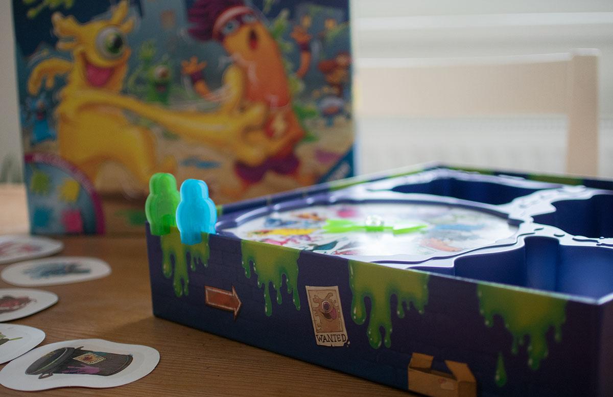 Monsterstarker Glibber-Klatsch Kinderspiel von Ravensburger drehscheibe