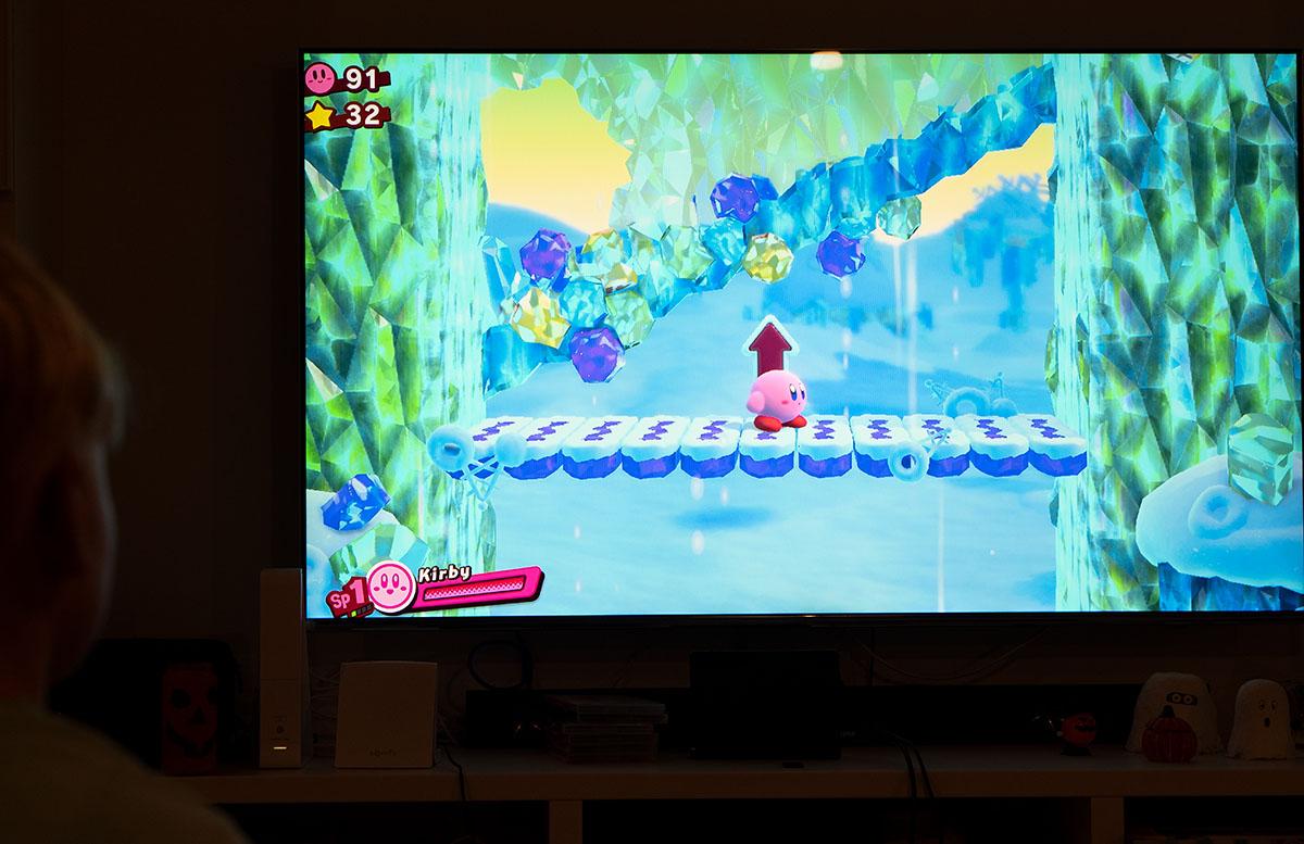 Nintendo Switch Mario Tennis Aces und Kirby Star Allies kirby im spiel