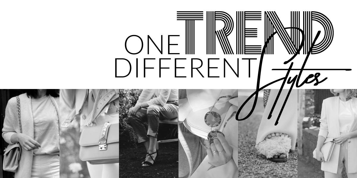 One trend different styles grafik