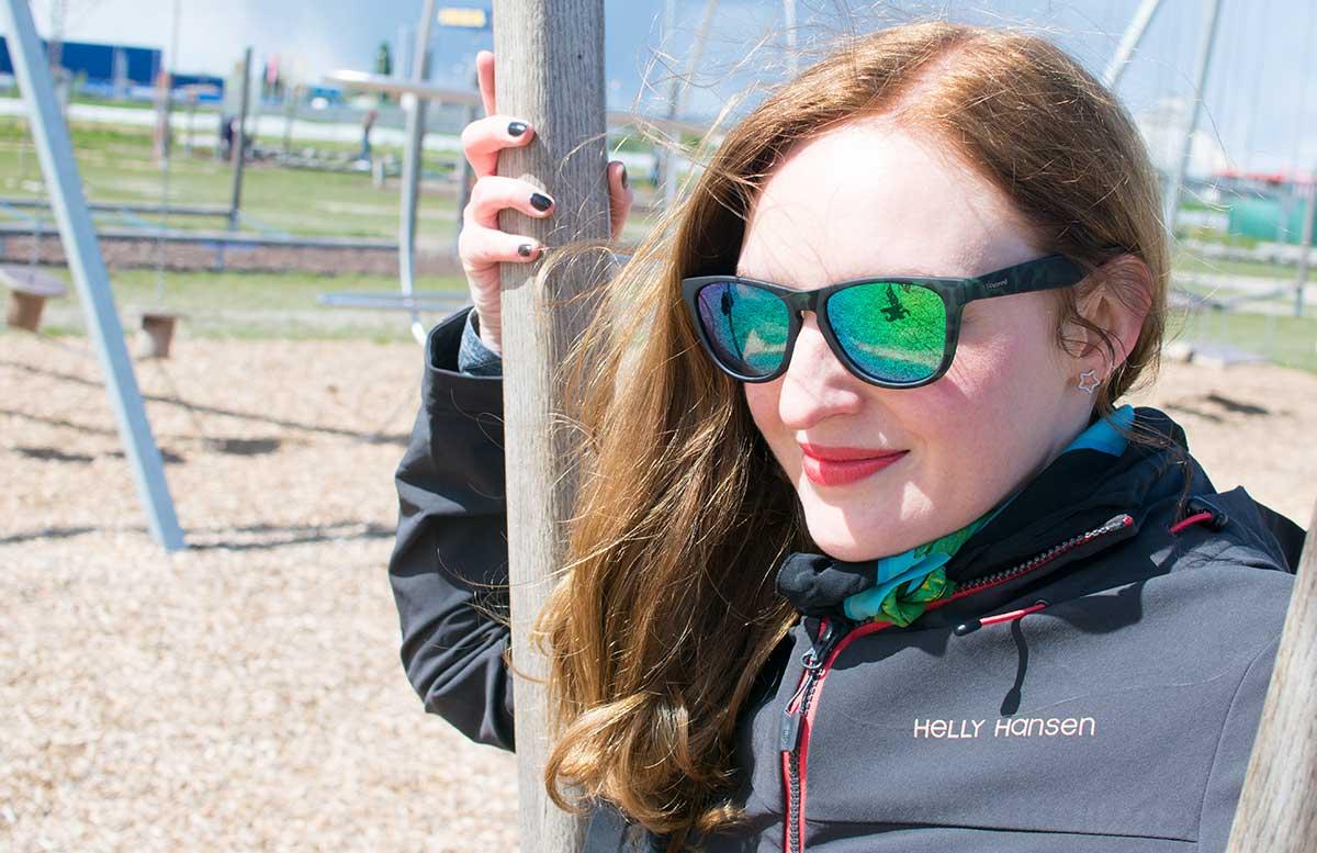 Outdoorfun mit TK Maxx im Motorikpark Wien detail polaroid brille