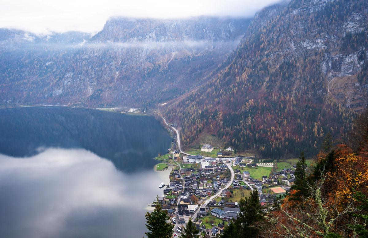 Salzwelten Hallstatt - Das älteste Salzbergwerk der Welt blick in den nebel