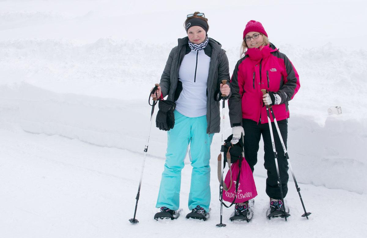 Schneeschuhwanderung zum Obernberger See wandern vicky carmen