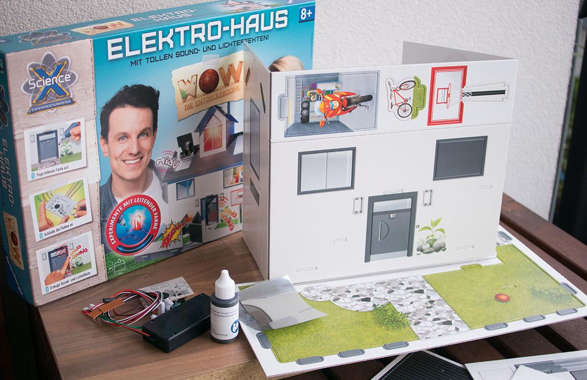 ScienceX Elektrohaus von Ravensburger inhalt des sets